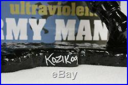 Frank Kozik SIGNED AUTOGRAPHED 17 Black Big Army Man Ultraviolence LE 50 Bust