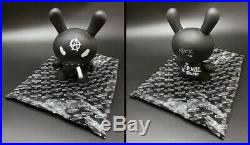 Frank Kozik SIGNED Kidrobot 8 Black Smorkin Anarchy Dunny AUTOGRAPHED MIB LE