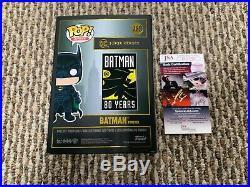 Funko Pop Signed Val Kilmer Bruce Wayne Batman Actor JSA Autograph Black Box