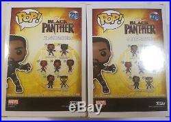 Funko pop! Black panther Set #273 Autographed(Chadwick BOSEMAN)(Stan Lee)+COA