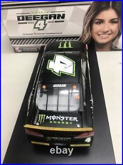 Hailie Deegan 2020 Daytona Monster Energy Autographed 1/24 Scale Nascar Diecast