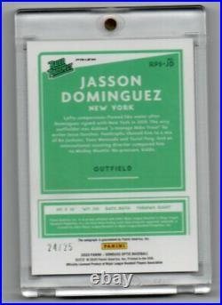 Jasson Dominguez 2020 Optic Rated Prospect Auto Black Cracked Ice 24/25-Yankees