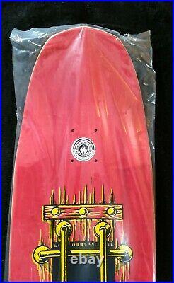 John Lucero Signed Black Label M. I. A Red Stain Autograph Skateboard Deck