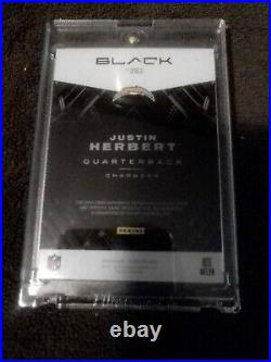 Justin Herbert 2020 Black Rookie Patch Auto Rpa Bronze #203 02/25 Chargers