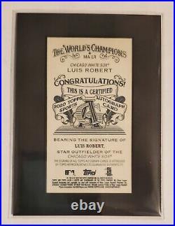 Luis Robert 2020 Topps Allen & Ginter Mini Black Framed Auto Autograph Rc #21/25