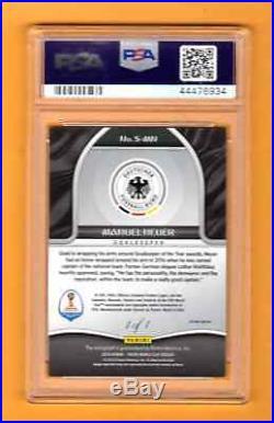 Manuel Neuer 2018 Prizm World Cup Soccer Black Autograph Auto # 1 / 1 Sp Psa 9