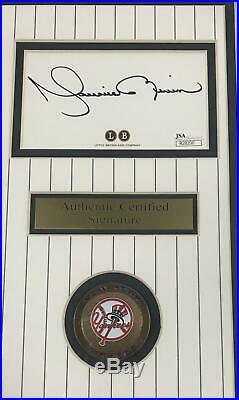 Mariano Rivera New York Yankees Autographed Cut Framed 8x10 Photo Jsa Coa