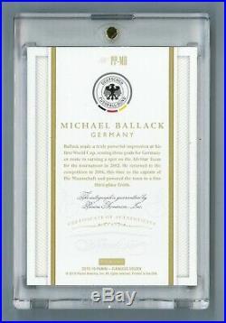 Michael Ballack #1/1 2015-16 Panini Flawless Soccer Autograph Auto Germany SP