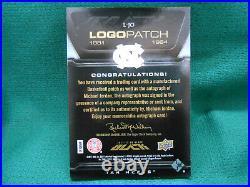 Michael Jordan 11/12 UD Black Auto Logo Patch #'d 5/40 Card L-JO Autograph