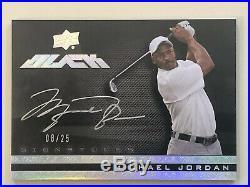 Michael Jordan 2013-14 UD Black Auto Autograph Signatures /25 Golf SSP Bulls