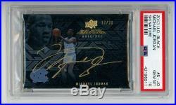 Michael Jordan 2013-14 UD Black signature auto, autograph PSA 10, LOW POP