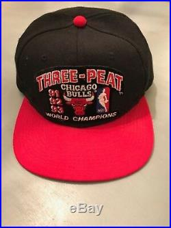 Michael Jordan Autographed Chicago Bulls Three-Peat 91, 92, 93 Hat