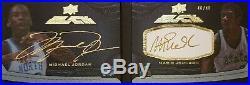 Michael Jordan Magic Johnson 2012 Exquisite Black Dual AUTOGRAPH Gem 10