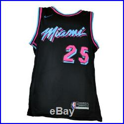 NBA Miami Heat Kendrick Nunn #25 Nike Jersey Black Neon JSA Autographed Signed