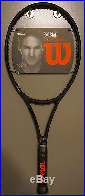 New Wilson Pro Staff 97 Autograph Roger Federer RF97 4 5/8 Racket BLACK