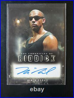 Rittenhouse Chronicles Of Riddick Pitch Black Vin Diesel on Card Autograph RARE