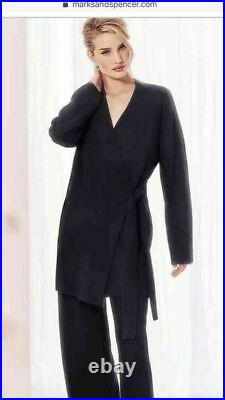 Rosie For Autograph Marks And Spencers Cashmere Black Dressing Gown £199 UK 12