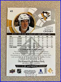 Sidney Crosby SP Authentic Autograph Black Silver Easter Egg Auto SSP Very Rare