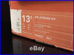 Signed Nike Air Michael Jordan XV 15 Sample Promo Pe Shoes 13.5 Uda Autograph Tb