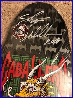 Steve Caballero Powell Peralta Reissue Skateboard Deck autographed signed Black