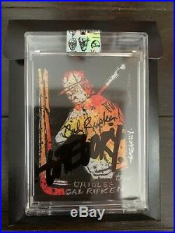 TOPPS PROJECT 2020 CAL RIPKEN JR. BY GREGORY SIFF WET BLACK OIL AUTOGRAPH x/2