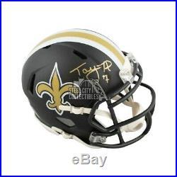 Taysom Hill Autographed New Orleans Saints Flat Black Mini Football Helmet BAS