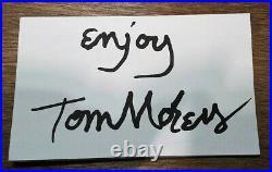 Tom Morey Autographed 3X5 card (BLACK INK) Original Morey Boogie Sticker