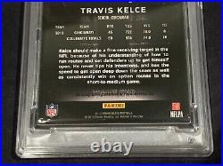Travis KELCE 2013 Panini BLACK Rookie Autograph GOLD 01/25 PSA 7 Near Mint AUTO