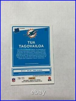 Tua Tagovailoa 2020 Optic RC Auto /25 Black Pandora Dolphins Alabama